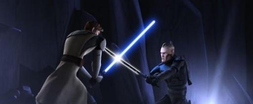 Kenobi face à Vizsla.