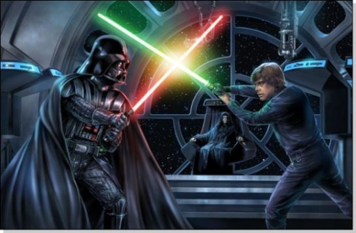 Duel final entre Darth vader et Luke Skywalker
