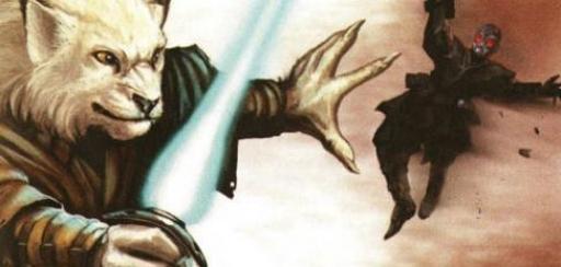 Un Jedi Cathar utilisant la technique du rapprochement