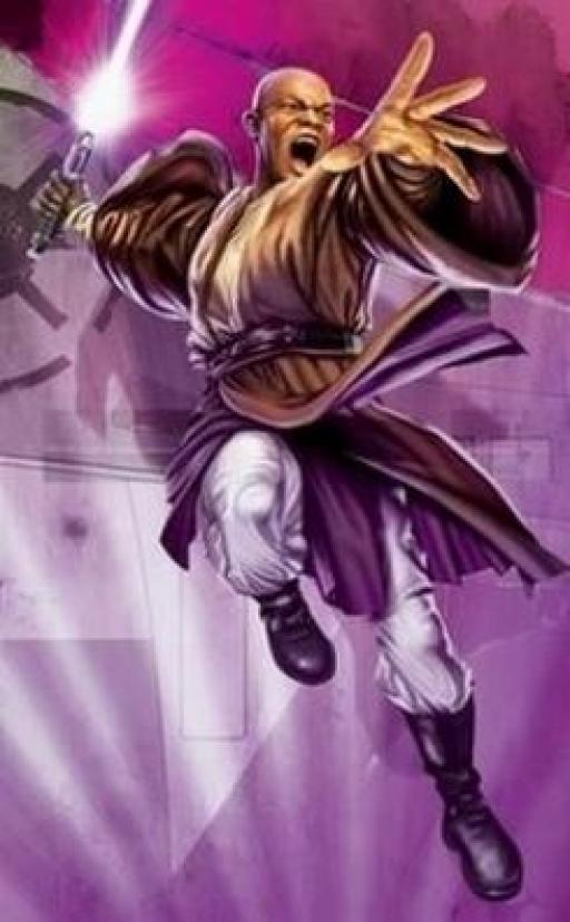 Le Haut Général Jedi Mace Windu.