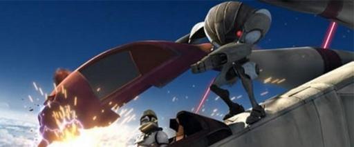Un B2-RP attaque un Pilote Clone de LAAT/i.