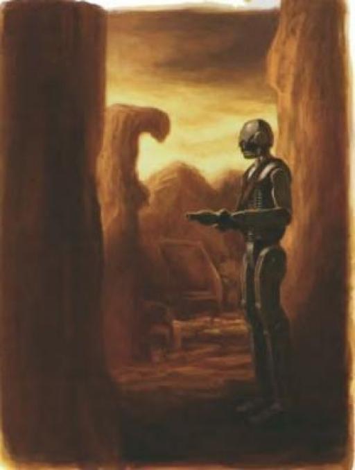 Un droïde de guerre Devastator sur Korriban