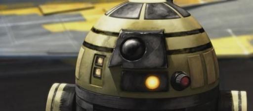 R3-S6, surnommé Goldie en raison de ses marquages dorés,