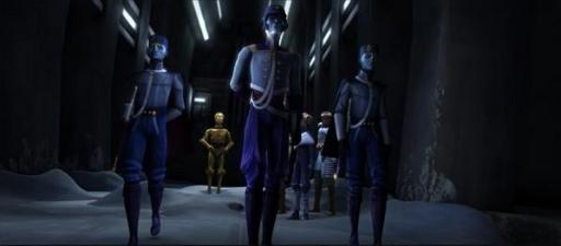 Le Président Pantoran Chi Cho et ses gardes du corps.