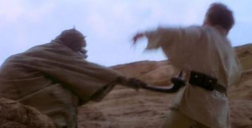 Luke se faisant attaquer