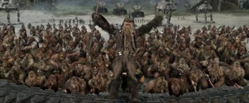 Défense des Wookiees pendant la Guerre des Clones