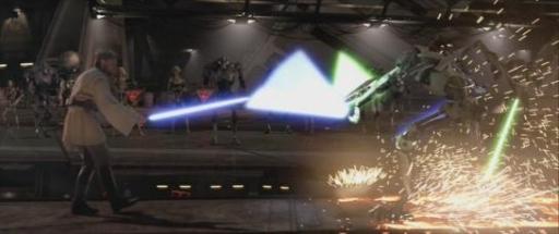 Le duel entre Kenobi et Grievous