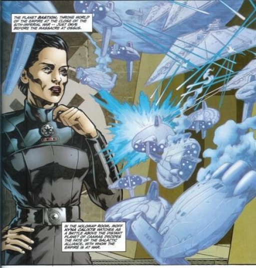 Nyna Calixte observant les derniers instants de l'Alliance Galactique