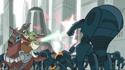 Yoda retient les forces Séparatistes dans le Secteur Quatre