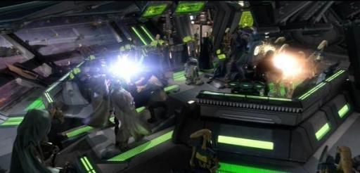 Kenobi et Skywalker essayent d'arrêter Grievous avant qu'il ne s'échappe