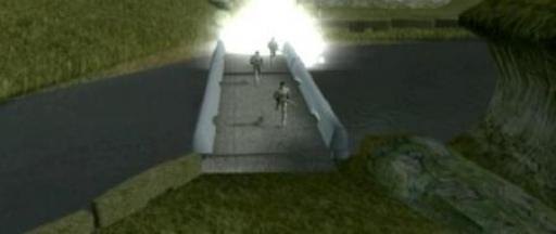 Les mercenaires d'Azkul traversent le pont miné de Khoonda