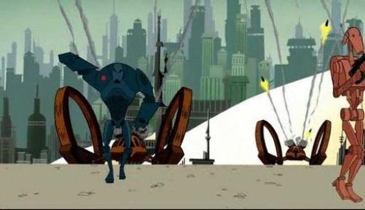 Les armées droïdes défendent la cité