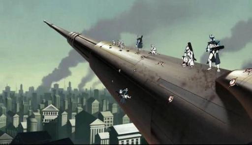 Les clones ARC détruisent le canon planétaire