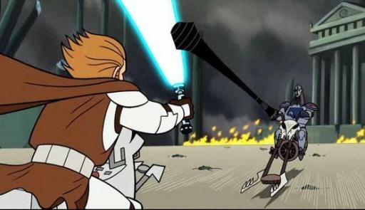 Obi-Wan affronte Durge