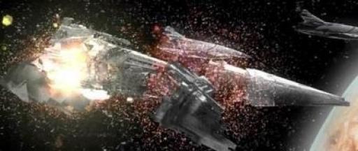 Le Ravager explose de l'intérieur suite à l'activation des bombes mandaloriennes placées par l'Exilée Jedi