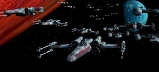 Les escadrons rebelles quittent Yavin IV pour la bataille