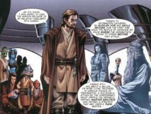 Obi-Wan, au briefing