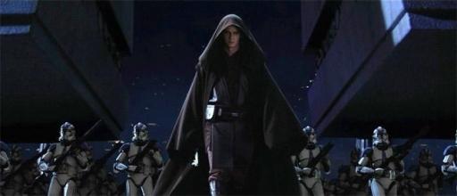 Darth Vader marche sur le Temple Jedi à la tête de la 501ème Légion