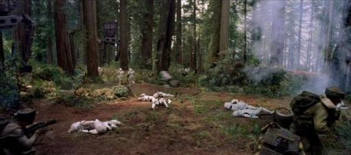 Les Impériaux traquent les Ewoks