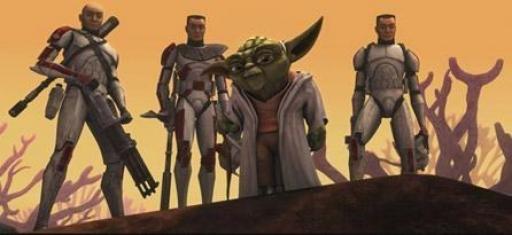 Le général Yoda et ses hommes