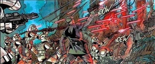 Le Lieutenant Janek Sunber et ses hommes affrontant les féroces Amanin.