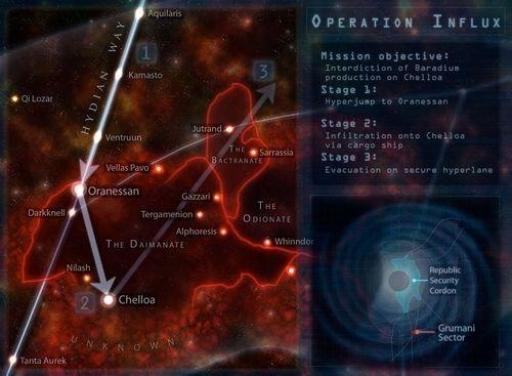Schéma tactique de l'Opération Influx