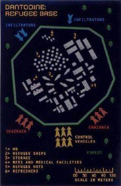 Plan de l'attaque du camp de réfugiés de Dantooine