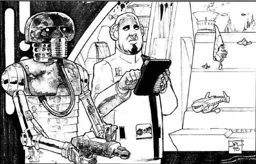 Un médecin de l'Académie de Médecine et un droïde 2-1B
