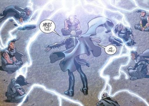 Bane essayant d'unir les Sith à l'aide du Côté Obscur
