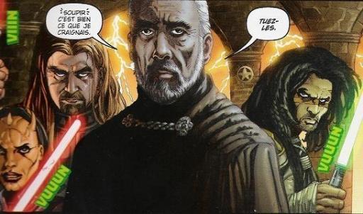 Le Comte Dooku, accompagné de quelques uns de ses Dark Acolytes