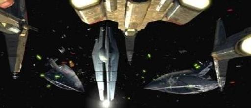 La flotte républicaine affronte la flotte de Darth Malak près de la Forge Stellaire