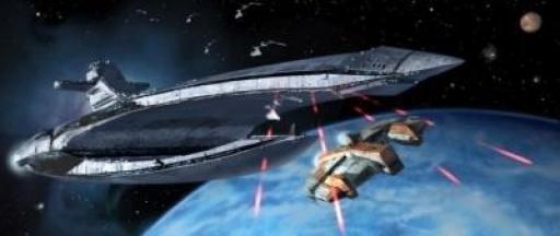 Le Leviathan lâche ses Chasseurs Sith sur l'Ebon Hawk