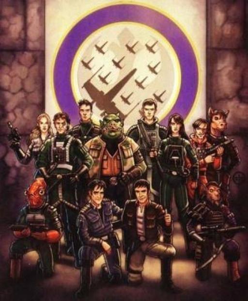 Portrait de famille des Spectres au début de la campagne contre Zsinj