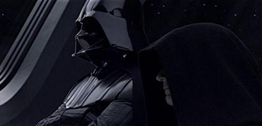 Darth Vader, aux côtés de l'Empereur