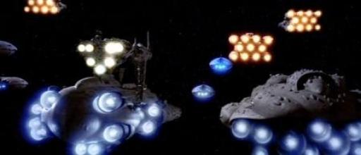 La Flotte Rebelle avant de sauter en hyperespace pour rejoindre Endor