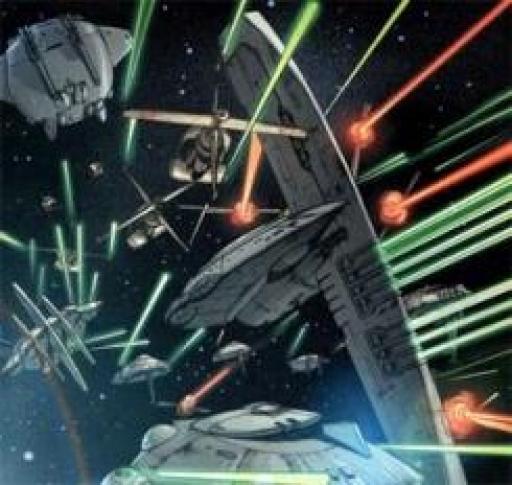 La Flotte du Noyau à la Bataille de Caamas