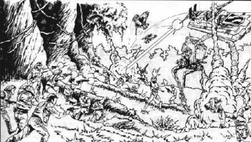 Exemple de Forces Sectorielles engageant le combat contre les troupes impériales