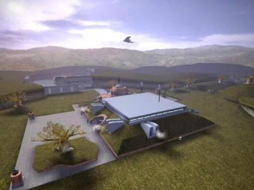 Vue aérienne du siège du gouvernement de Dantooine