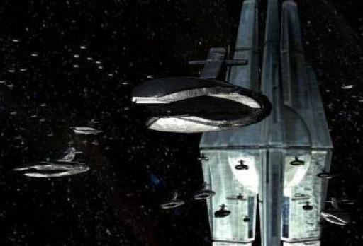 La flotte Sith devant la Forge Stellaire