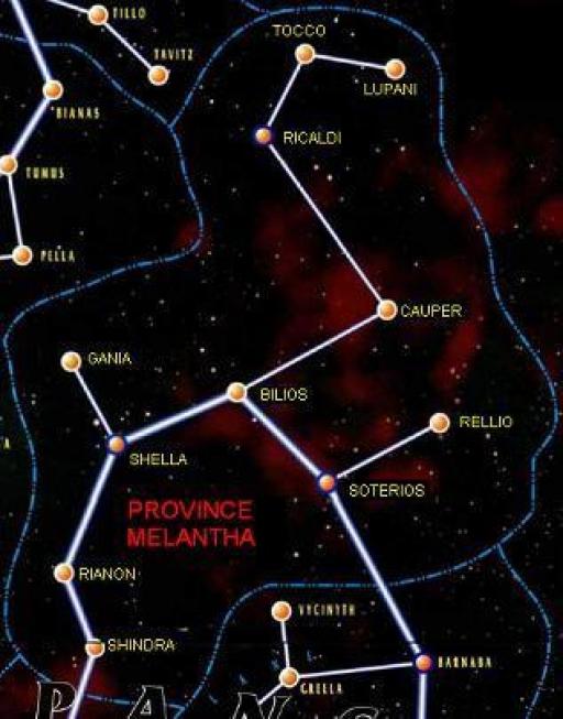 Carte de la Province Melantha