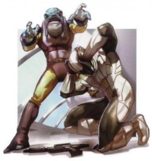 Selkath de l'Ordre de Shasa utilisant ses pouvoirs contre un Soldat Sith de l'Ambassade Sith de Manaan