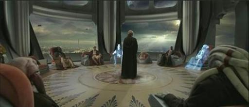 Le Conseil des Jedi, peu avant la chute de l'Ordre Jedi