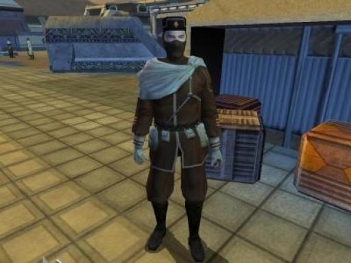 Un soldat des Partisans de Vaklu sur la place d'Iziz