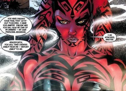 Darth Talon reçoit son nom Sith