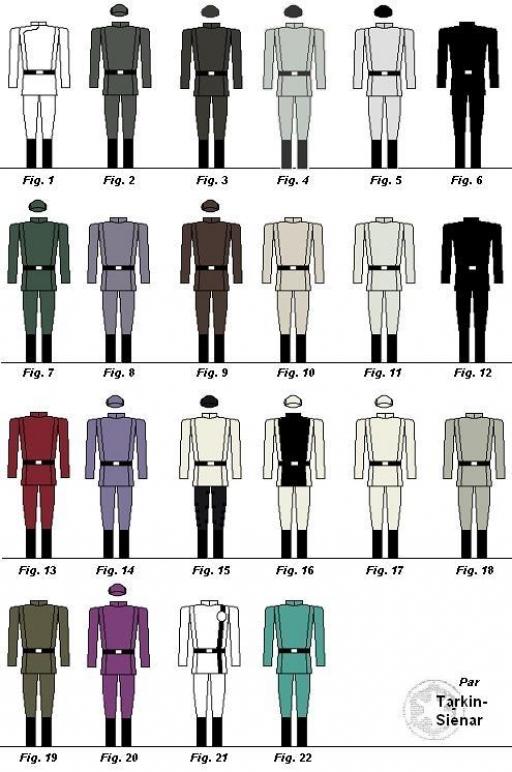 Planche I : Couleurs d'uniformes
