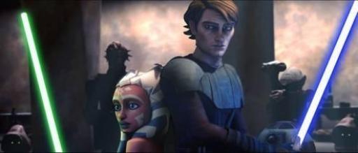 Anakin et Ahsoka sous la menace de Jabba