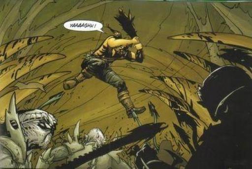 Libéré de ses entraves, Arbeloa donne libre cours à sa fureur...