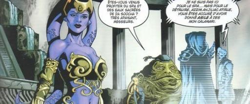 Azzim Anjiliac Atirue face à Darth Azard et Vul Isen.
