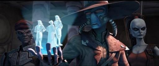 Cad Bane dévoilant son dernier atout au Chancelier Suprême Palpatine.