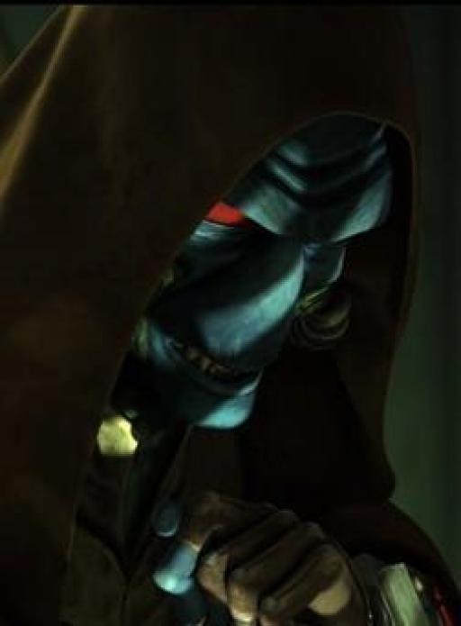 Le « Maître Jedi » Cad Bane.
